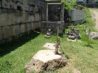 井戸と屋敷風水石